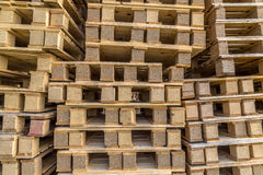 Background Close up Piles of pallet on business area Royalty Free Stock Photo
