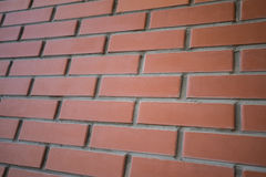 Background of close up urban red brick wall Stock Photography