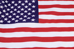 Background close up of USA Stars and Stripes flag Royalty Free Stock Photo