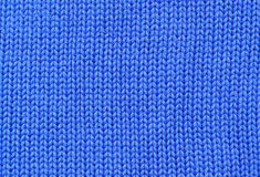Background - closeup of blue knitted textile Stock Photos