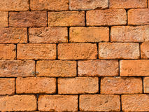 Background of closeup vintage brick wall texture, Thailand Royalty Free Stock Image