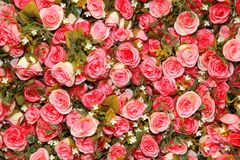Background of cloth rose Stock Image