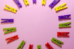 Background of clothespins royalty free stock photography
