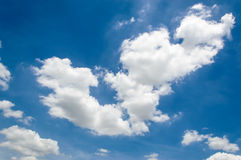 Background cloud in blue sky Royalty Free Stock Photography