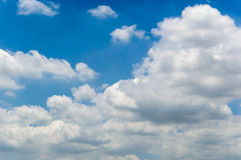 Background cloud in blue sky Stock Photos