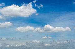 Background cloud in blue sky Royalty Free Stock Photos