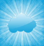 Background with cloud and show light rays Stock Photos
