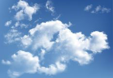 Background with clouds on blue sky vector illustration