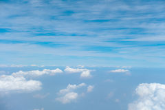 Background of clouds and sky Stock Images