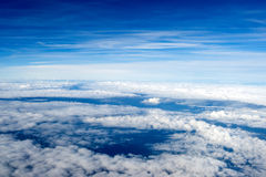 Background of clouds. view from the airplane Royalty Free Stock Photography