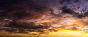 Background of cloudy in morning sky. Dramatic sence Royalty Free Stock Photography