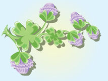 Background with clover Stock Images