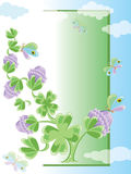 Background with clover Stock Image