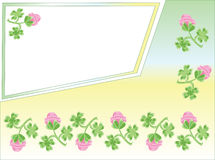 Background with clover Royalty Free Stock Photo