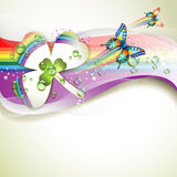 Background with clover and drops Royalty Free Stock Images