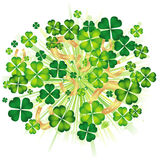 Background with clovers. Vector illustration of background with clovers and  horse shoe Stock Image