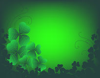 Background with clovers. St. Patrick's day background Stock Photos