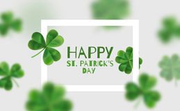 Background with clovers 3d effect. Stock Photo