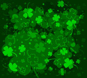 Background with clovers Royalty Free Stock Images