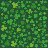Background with clovers, St. Patrick's Day background. Vector Stock Photography