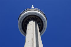 Background with the CN Tower and blue sky Royalty Free Stock Images