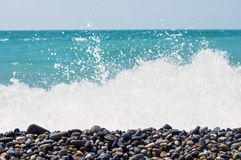 Pebble on the seashore. stock photo