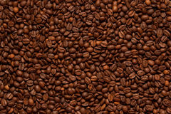 Background cofe. Background of dark roasted coffee beans Royalty Free Stock Photos