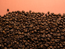 Background of coffe-beans Stock Photos