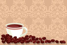 Background with coffee Royalty Free Stock Images