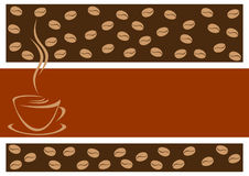 Background with coffee. Stock Image