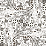 Background with coffee advertising Stock Photography