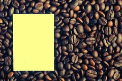Background of coffee beans Stock Image