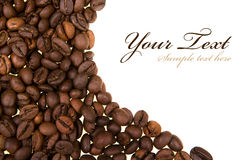 Background with coffee beans Royalty Free Stock Photos