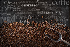 Background coffee beans stock photography