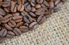 Background with coffee beans royalty free stock images