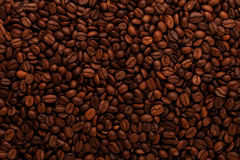 Background of coffee beans. Background of dark brown coffee beans Royalty Free Stock Photos