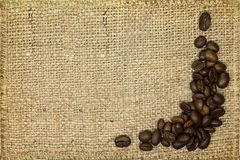 Background with coffee beans Stock Images