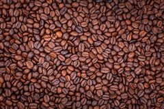 Background of coffee beans, wallpaper Stock Photo