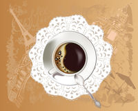 Background with a coffee cup Royalty Free Stock Photos