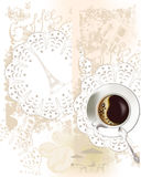 Background with a coffee cup Royalty Free Stock Photo