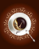 Background with a coffee cup Royalty Free Stock Photography