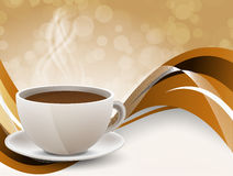 Background with coffee cup Royalty Free Stock Photography