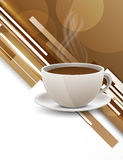 Background with coffee cup. Bright background with coffee cup. Abstract illustration Royalty Free Stock Image