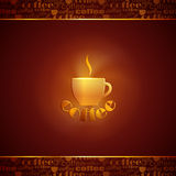 Background with coffee cup Stock Photos