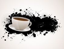 Background with coffee cup Stock Photography
