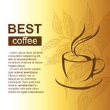 Background with coffee cup Stock Image