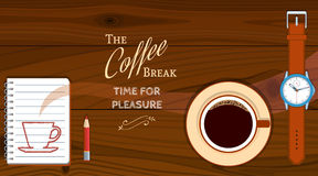 Background With Coffee Cup Royalty Free Stock Images