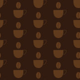 Background with coffee cups Stock Image
