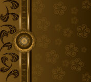 Background coffee floral. Vector floral background. Coffee & chocolate time motif Royalty Free Stock Image