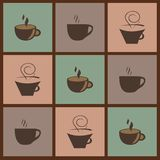 Background with coffee images. Background with several coffee images stock illustration